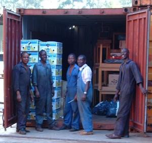 Het uitpakken in Malawi